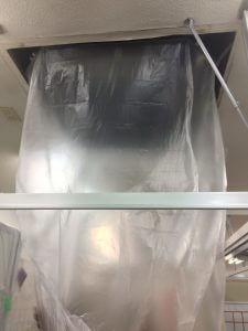 エアコン清掃養生シート2